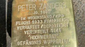 Stolpersteinverlegung Peter Zanders