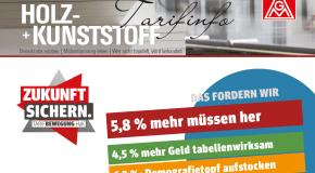 Tarifinfo Holz- und Kunststoff: 5,8% mehr müssen her