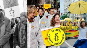 Glückwunsch amnesty! Satte 60 und topfit: KOMPROMISSLOS FÜR MENSCHENRECHTE!