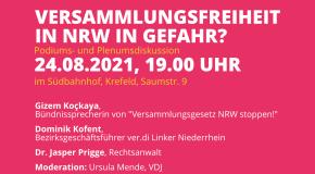VERSAMMLUNGSFREIHEIT IN NRW IN GEFAHR?