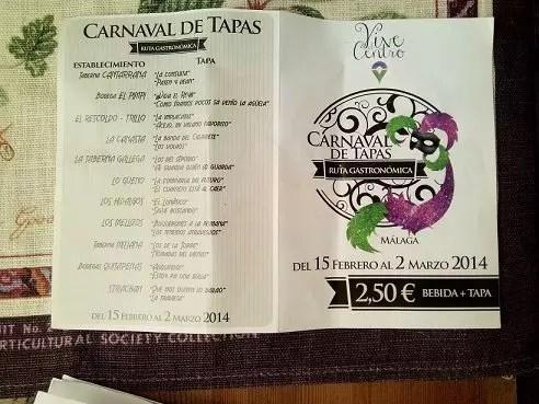 Carnaval de Tapas de Málaga – Ruta Gastronómica GastroMarketing Turismo Experiencial