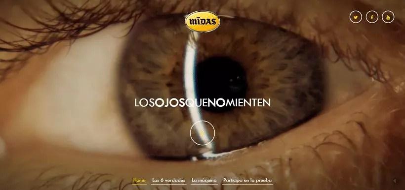 Los Ojos no Mienten - Midas - Web Social Media Storytelling