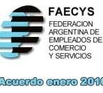 Empleados de Comercio: Nuevo Acuerdo Salarial Enero de 2010.