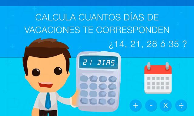 Calculadora de vacaciones online