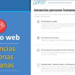 servicio web ganancias personas humanas afip 2017