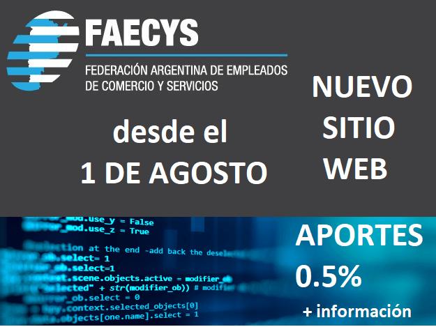 Los cambios en la web de aportes de FAECyS