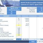Empleados de Comercio: liquidación sueldo Agosto 2018 [Incremento Salarial 5%]
