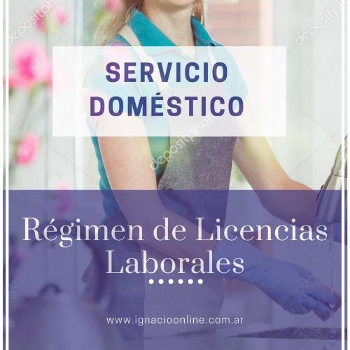 Licencias laborales del personal de Servicio Doméstico enfermedad plazos maternidad embarazo accidentes