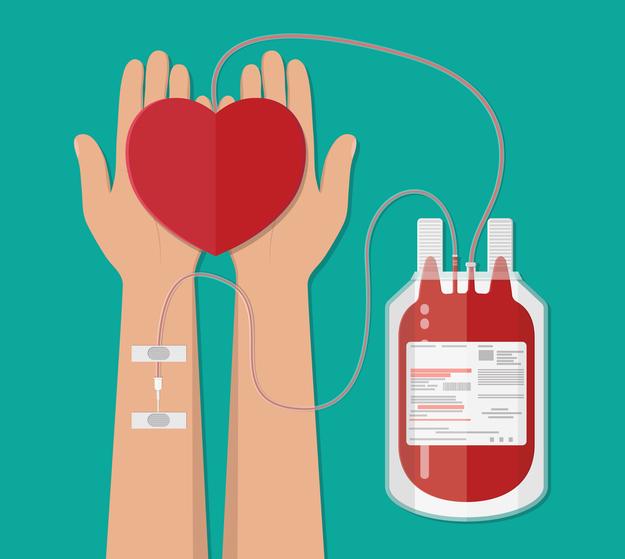 La ley 22.990 establece la justificación por 24 o 36 horas para los donantes de sangre.