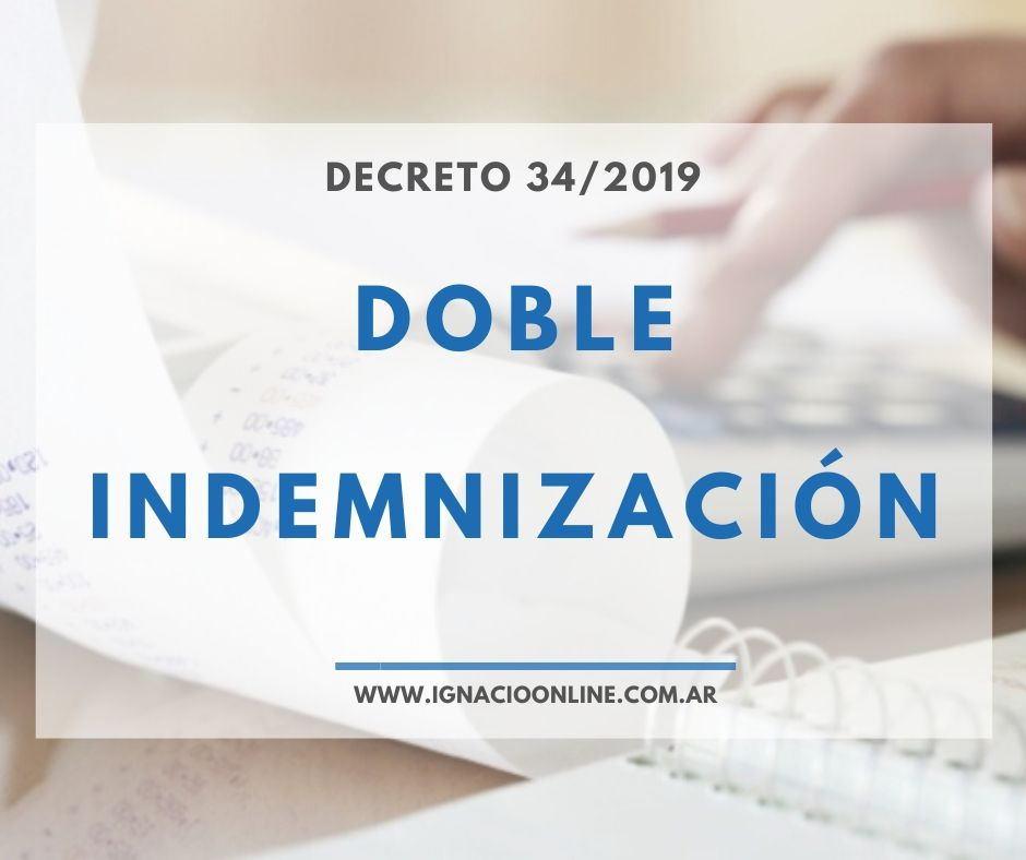 Doble Indemnización Decreto 34/2019