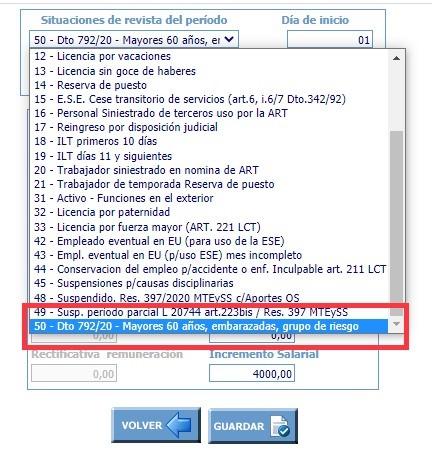 Decreto 792/20 Artículo 24 código 50 F931