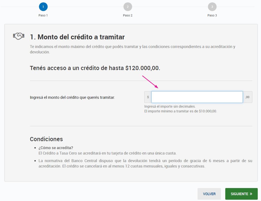 Monto Máximo de los Créditos a Tasa Cero 2021