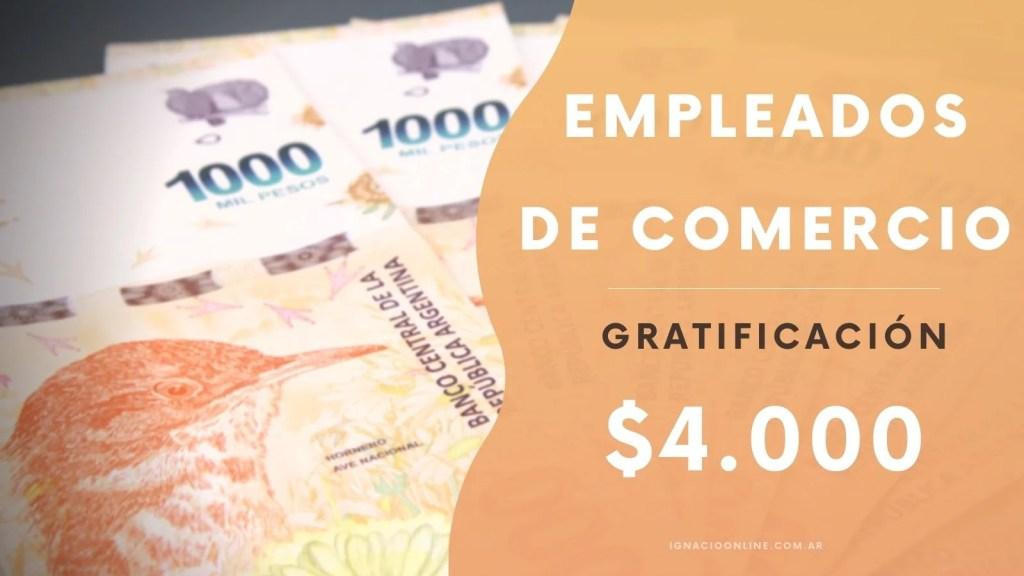 Empleados de Comercio liquidación de 4000 pesos aportes como se liquida dudas recibo caso practico agosto 2021 www.ignacioonline.com.ar