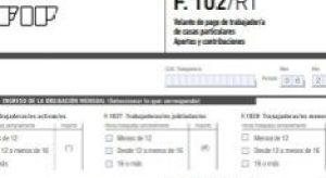 Formulario F102 RT Servicio Doméstico
