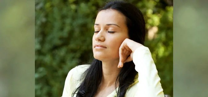 woman sitting in silence