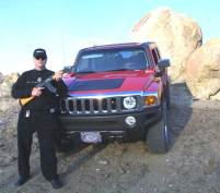 Dr Walden Hughes with his Hummer