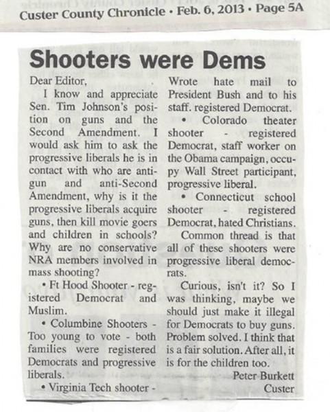 Shooters were Democrats