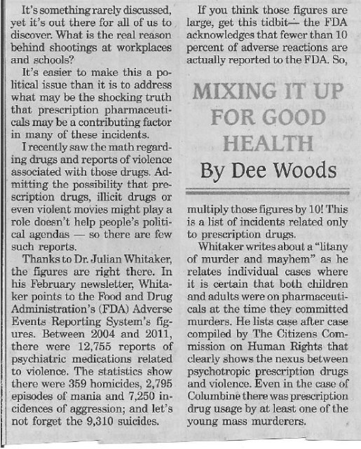 Connection between Rx drugs and mass murder?