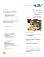 AMN Healthcare E-Learning – One Sheet