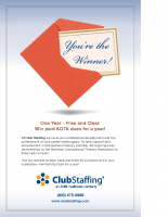 Club Staffing AOTA Winner – Foam Board