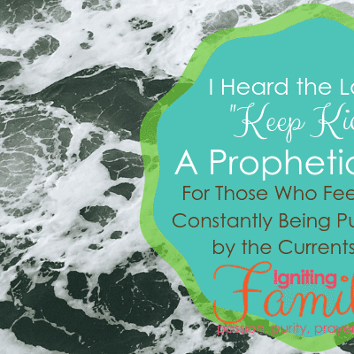 "Prophetic Word: I Hear the Lord Say, ""Keep Kicking"""