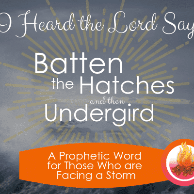A Prophetic Word for Those Facing a Storm: Batten the Hatches and Undergird
