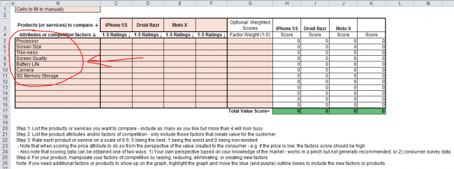 strategy canvas template attribute screenshot