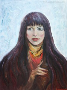 portrait_woman_winter_oil_canvas