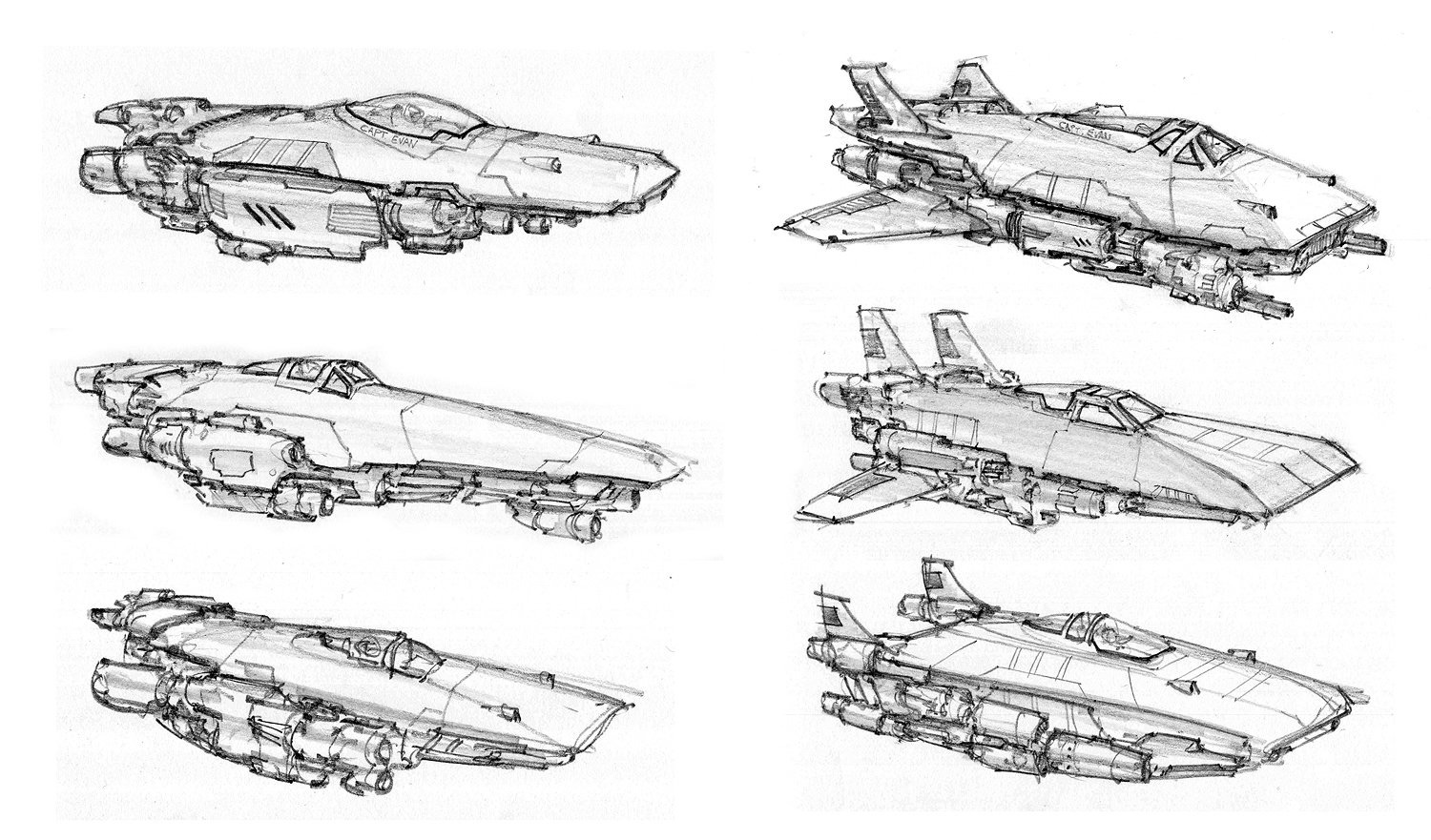 Concept Ships Spaceship Sketches By Alex Villarreal