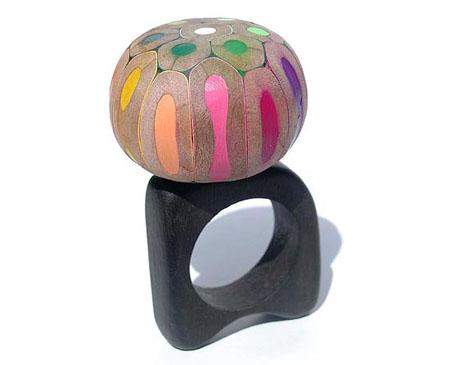 Lápices convertidos en anillos