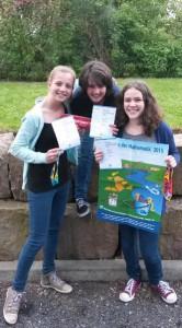 Das Siegertreppchen mit Sophie Becker (Platz 3), Charlotte Ahrends (Platz 1), Charlotte Hüfken (Platz 3).