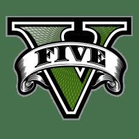 gta v five logo v only