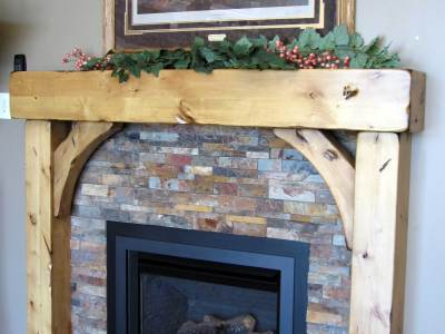 Beam and Brace Fireplace Mantel Iguana Art & Design