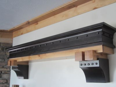 Knotty Alder Fireplace Shelf and Mantel Custom Made