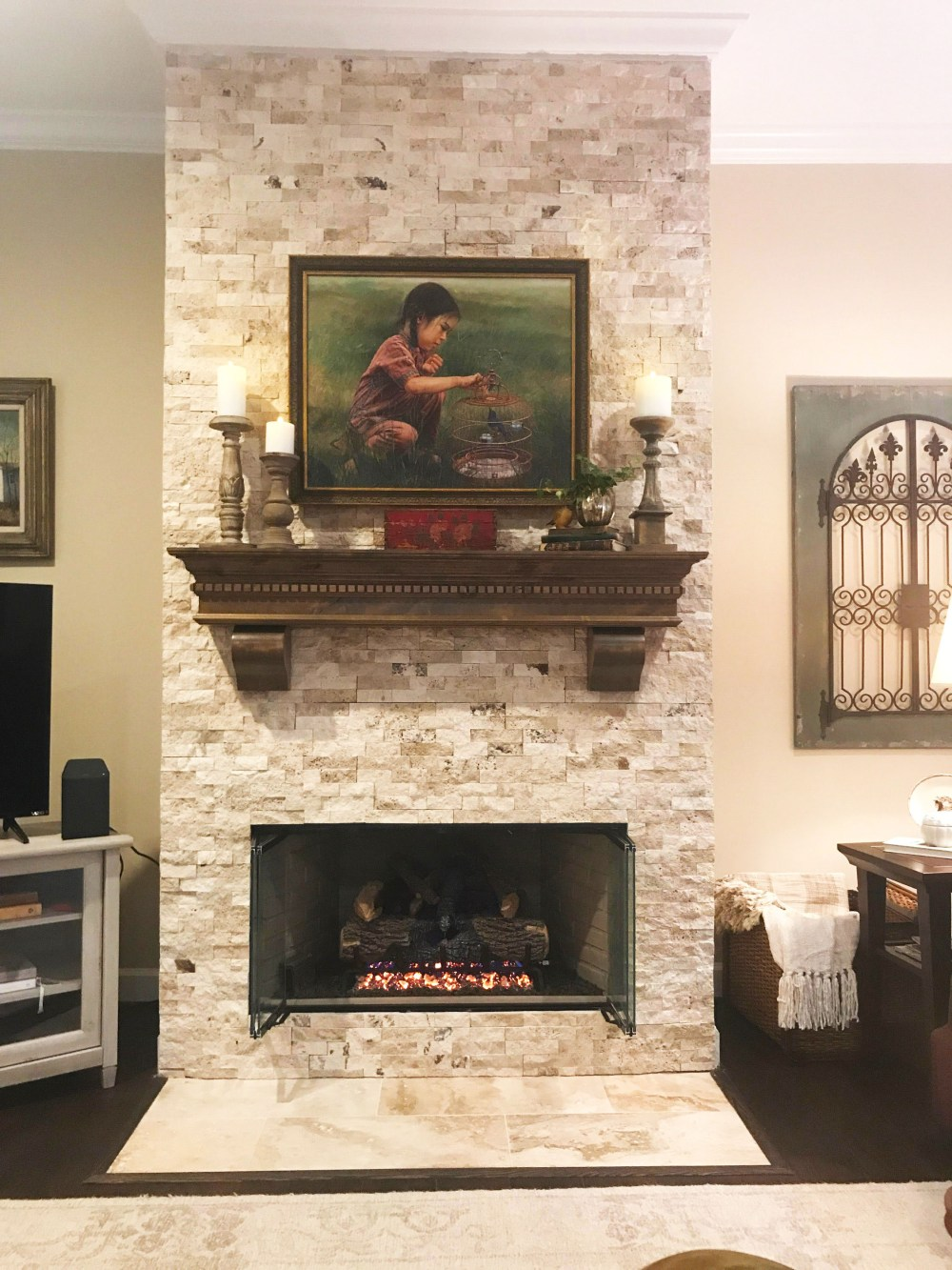 Custom Fireplace Mantel Snake River Dark Walnut Stainiguana Art