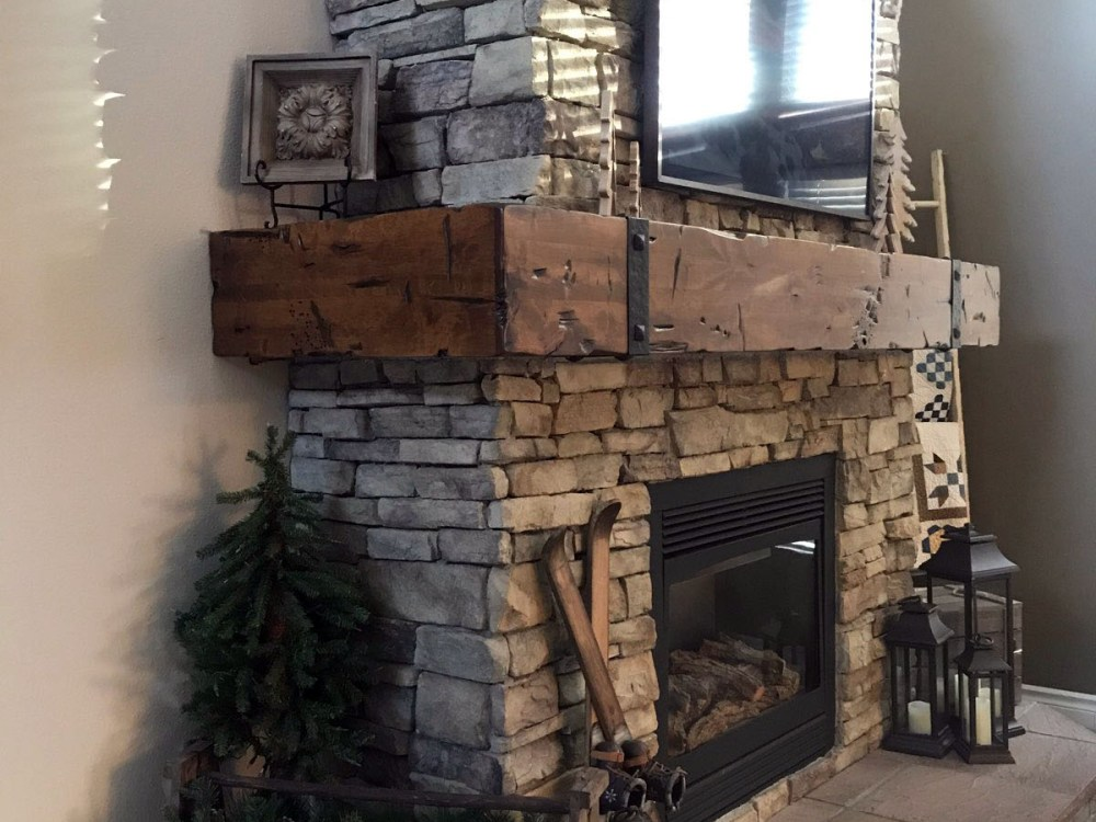 Fireplace Mantel Wrap Around Custom Made