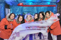 Ice bar in iguazu falls
