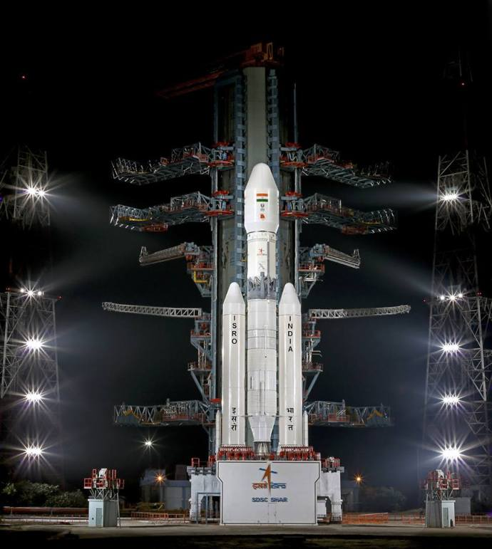 GSLV mark iii at the launch pad.