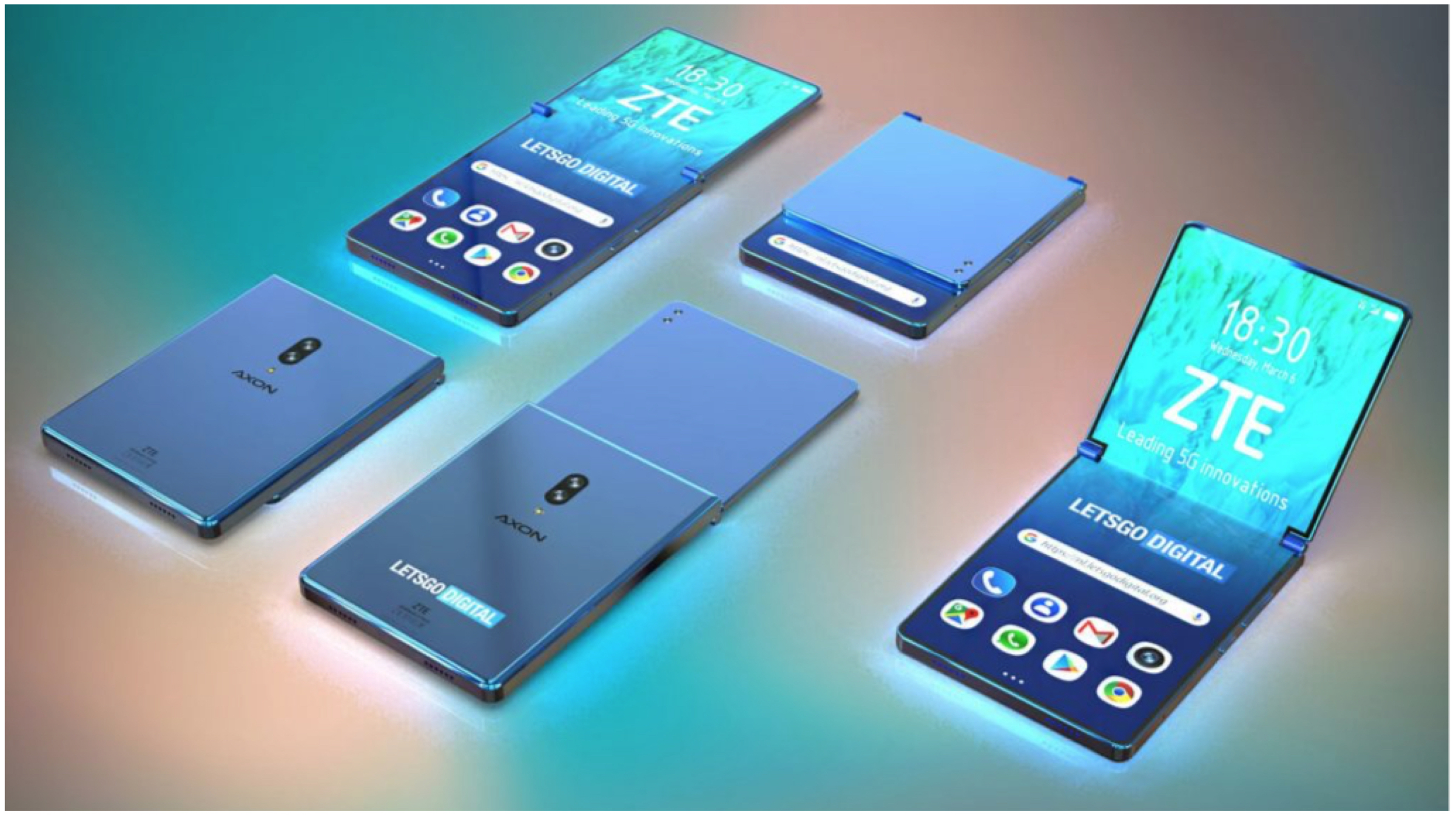 Zte Clamshell Style Foldable Phone Patent Amp Details