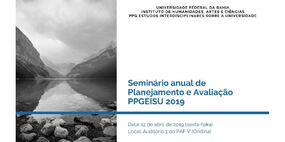 PPGEISU realiza em abril o Seminário Anual de Planejamento e Avaliação do Programa