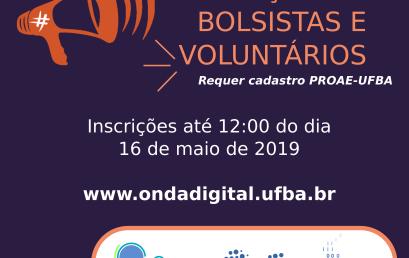 Grupo ONDA DIGITAL seleciona bolsista e voluntária/o para projeto