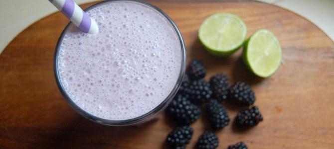 Blackberry Lime Protein Smoothie