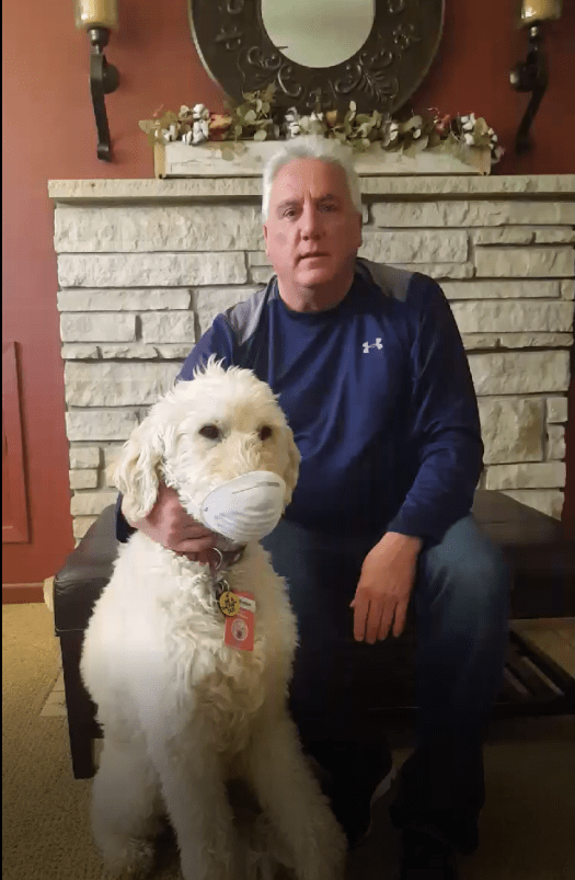 Volunteer and Therapy Dog
