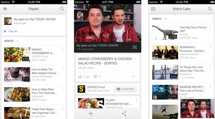YouTube Updated to Bring iOS 7 Improvements, Ability t