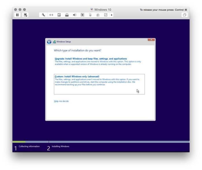 VMware Fusion install windows 10 3