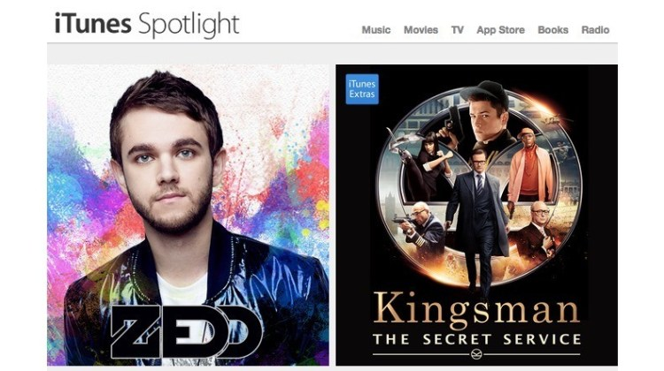 iTunes Spotlight: Kingsman, Zedd, Spongebob…