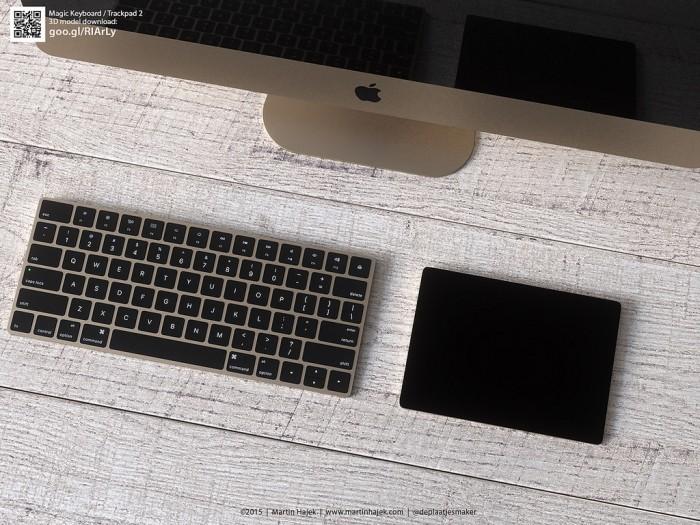 gold trackpad 2 and magic keyboard 1