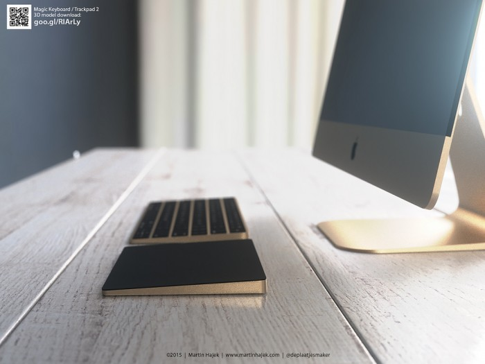 gold trackpad 2 and magic keyboard