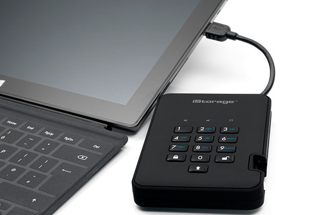 diskAshur2® 256-bit Encrypted Hard Disk Drive (Black) for $179