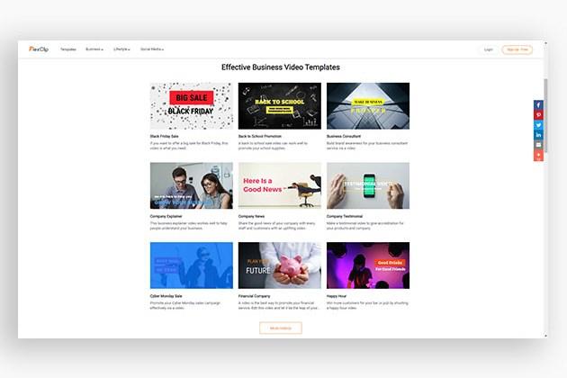 FlexClip Online Video Maker: 1-Yr Subscription (Plus Plan) for $29